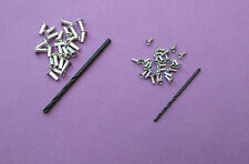 RIVET Pack ~ 50 Small Rivets, 100 Large Rivets + Drills Matchbox Corgi Dinky etc