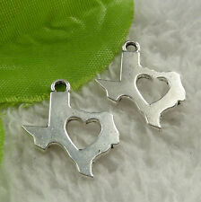 Free Ship 216 pieces tibet silver heart charms 23x19mm #4519