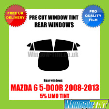 MAZDA 6 5-DOOR 2008-2013 5% LIMO REAR PRE CUT WINDOW TINT