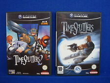 gamecube TIMESPLITTERS 2 + 3 FUTURE PERFECT Games MINT DISCS Nintendo PAL