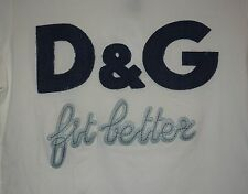 "DOLCE & GABBANA JUNIOR long sleeve top ""D&G FIT BETTER "" SZ M NEW"