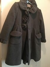 Rothschild Girls Gray Wool Coat 4t