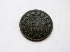 1891 Canada Large One Cent - LL/LD