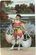 Ostern, Dame, Eierschalen, um 1910/20