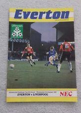 537) Everton  v Liverpool  programme Littlewoods  cup 21-1-1987