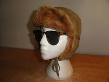 "Men's Vtg Olive Green EDDIE BAUER ""DOWN"" Aviator/Trapper Hunting Winter Hat Sz-M"