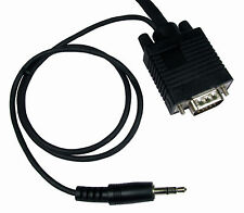 3m VGA Male PC Monitor Lead with built in 3.5mm Stereo Sound Audio Jack AV Cable