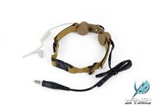 Z-TACTICAL Tactical Throat Mic TAN CB LARINGOFONO RADIO CUFFIE AIRSOFT SOFTAIR