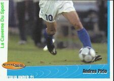 74 ANDREA PIRLO 2/2  AZZURRINI ITALIA UNDER 21 STICKER SUPER CALCIO 2001 PANINI