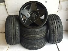 "18 ""3SDM 0.05 BLACK alloy wheels audi a3  03 tt 06 vw bora/golf seat with tyres"