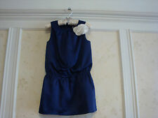 NWT JANIE AND JACK POSH POSY GIRLS CORSAGE DRESS 3 3T NAVY