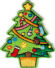 HOLIDAYS - CHRISTMAS TREE - IRON ON EMBROIDERED PATCH - Decorations - Trims