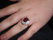 "Park Lane Jewelry, ""RUBY ICE"" Ring, Size-10, Ruby and Clear CZs, New!!!"