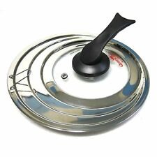 """New Universal High Quality Pot Lid Stainless With Tempered Glass Pan Cover 7.8"""""""