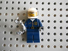 Lego City Town Minifigure Motorcycle Police Officer w/ Hancuffs EUC