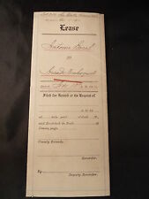 Antique 1910 LEASE ANTOINE BOREL TO ARCADE DECHOQUET FOR GARDEN IN SAN MATEO CA