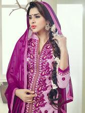 Designer Glace Cotton Salwar Kameez Pink Color Unstitched Party Wear Material