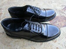 LEATHER MENS SHOES 10 BLACK OXFORD LACE UP LINING CASUAL FORMAL DRESS OFFIC