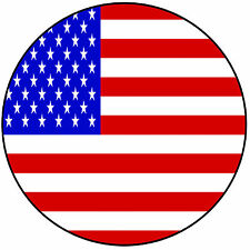 "America - USA - American Flag Round 8"" Easy Precut Icing Cake Topper"