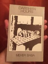 MEHER BABA - DARSHAN HOURS - 1ST BEGUINE EDITION 1973 Very Good Condition