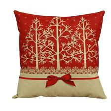 Vintage Christmas Xmas Tree Waist Sofa Bed Home Decor Pillow Case Cushion Covers