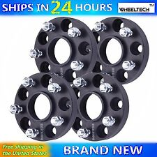 4 Pcs 5x4.5 Black fit 2008-2015 Nissan Rogue Hub Centirc 1 inch Wheel Spacers