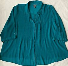 Plus Size Catherines Rayon Blend Soft Flowy Shirt Top Blouse 4X 30 32W
