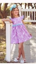 Eleanor Rose Woodland Bunnies Penny Easter Boutique Dress Toddler Girl 4/5 4 5