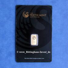 Goldbarren 1g 1 Gramm Feingold Perth Mint Kangaroo Blister Känguru Gold 99,99