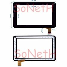 "Vetro Touch screen Digitizer 7,0"" Hamlet Exagerate XZPAD703G 3G Tablet PC Nero"