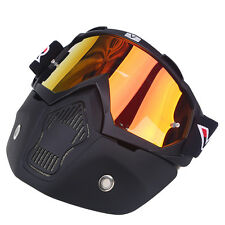 NEW Anti Fog Motorcycle Bike Goggles Nose Full Face Mask Helmet Shield Windproof