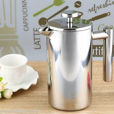 1000ML French Press Coffee Tea Pot with Filter Stainless Steel Double Wall