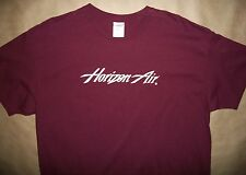 XL Horizon Air T Shirt New Maroon Airlines Passanger Airliner Aero Plane Pacific