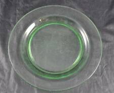 """Vintage Green Pressed Glass Crystal Bread Butter Plate About 7 1/2"""""""