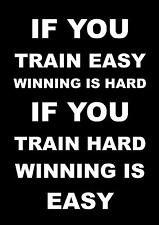 INSPIRATIONAL MOTIVATIONAL QUOTE POSTER BOXING RUNNING BODYBUILDING  CYCLING