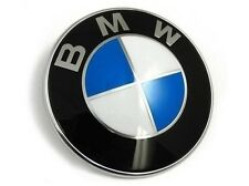 NEW Car Emblem Chrome Front Badge Logo 82mm  For BMW Hood/Trunk