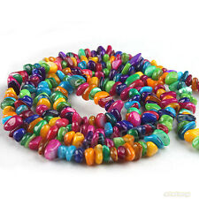 1string Cute Mixed Colorful Nature Stone Charms Beads Jewelry Making Findings L