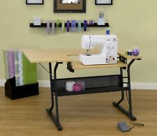 Sewing And Craft Table With Storage Machine Maple Table Organiser Sew Folding