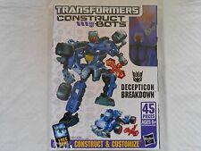 Transformers Construct Bots Deception Breakdown Scout Class E1:08 Hasbro 45 Pcs