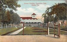 c.1910 Flower Gardens Exposition Park Dallas TX post card