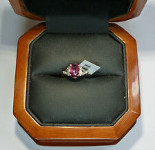 18k White Gold 1.75ctw Natural Oval Padparadscha Sapphire & White Diamond Ring