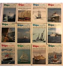 Ships Monthly 12 Magazines 1972 Jan-Dec Complete Year Boats Nautical Vessels