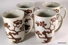 1976 Fitz & Floyd COGNAC PRUNIER de CHINE Coffee Mug Set of Four