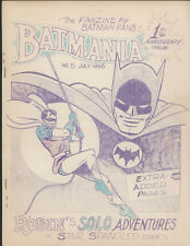 BATMANIA #5, July 1965, Comic Fanzine - VG