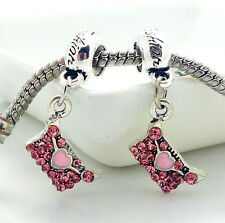 Fashion 2PCS  Silver   Spacer European Charm  BeadS Fit Necklace Bracelet SE544
