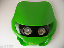 KAWASAKI GREEN UNIVERSAL MOTORCYCLE HEADLIGHT ENDURO STREETFIGHTER KX KXF ZXR ZX