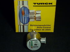 New Turck FCS-N1/2A4-AN8X-H1141 Flow Monitor 316SS 1450PSI Water Oil 80C 6 LED