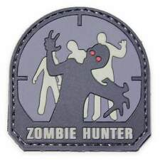 NEW 3D PVC Zombie Hunter Army Military Tactical Velcro Morale Patch Urban Grey