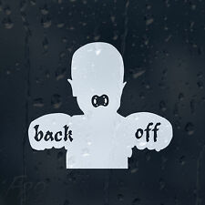 Tough Baby On Board Back Off Decal Vinyl Sticker For Panel Or Window Or Bumper