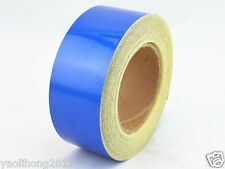 "Blue Reflective Safety Warning Conspicuity Tape Film Stickers 2""x10'"